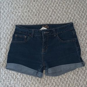 justice blue denim shorts